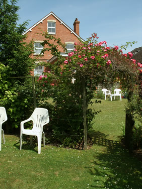 Sunny garden for B & B guests