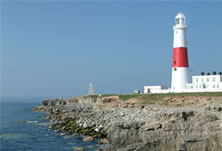 Portland Bill lighthouse, not far from our bed and breakfast